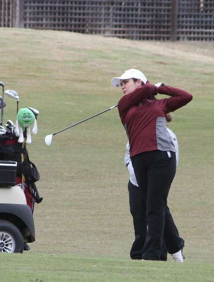 Stephanie Gonzalez leads the way for TAMIU in seventh place after shooting 169 through two rounds in the Jack Brown Memorial Golf Tournament at the Max A. Mandel Municipal Golf Course. Photo: Courtesy Of TAMIU Athletics