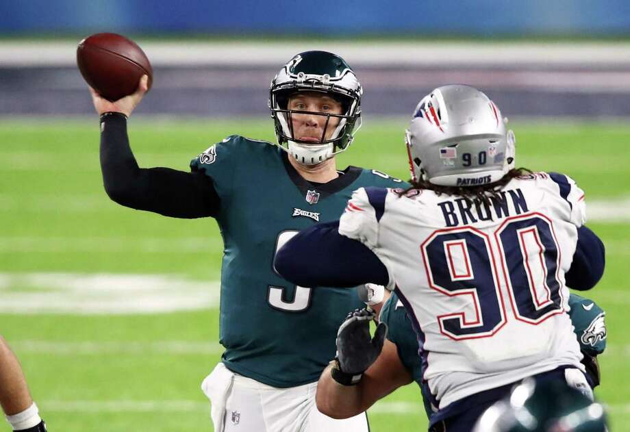 Eagles quarterback Nick Foles threw for 373 yards and three touchdowns in Super Bowl LII leading Philadelphia to its third straight upset win in the playoffs. Photo: Gregory Shamus /Getty Images / 2018 Getty Images