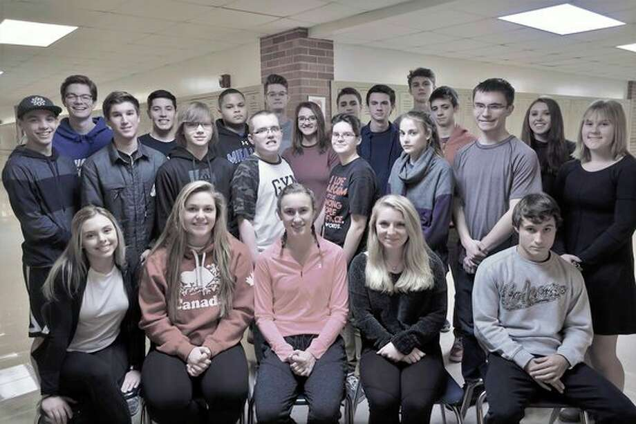 Students in Libbie Marsh's sales management class at Midland High School pose for a photo. They completed an eight week Toastmaster's International Youth Leadership Program. (Photo provided)
