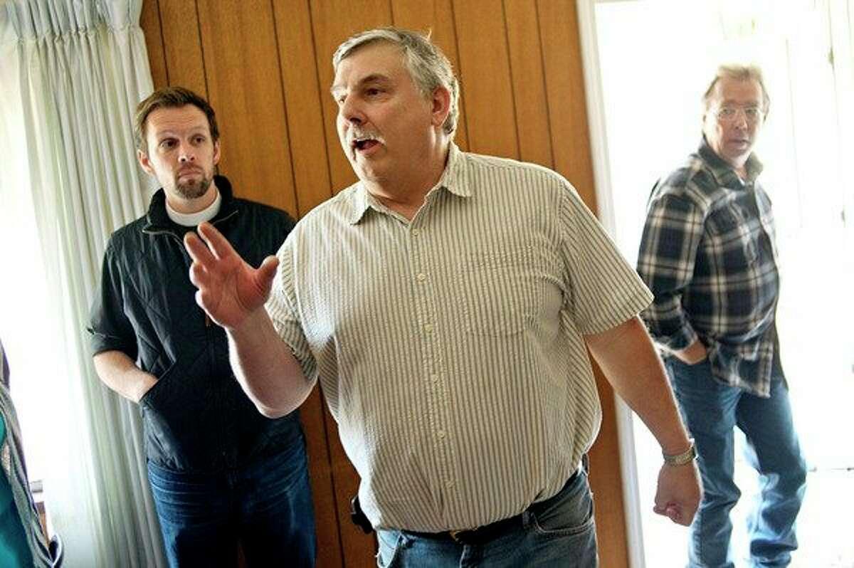 NICK KING   nking@mdn.net Former New Hope Village Director John Congleton, center, has resigned.