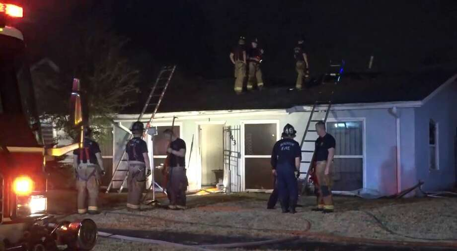 A fire damaged a home late Monday in the 3300 block of Wentworth, near Texas Southern University.