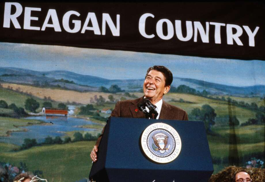 President Ronald Reagan campaigns in New Hampshire at the start of his 1984 re-election campaign. Photo: Dirck Halstead/Getty Images