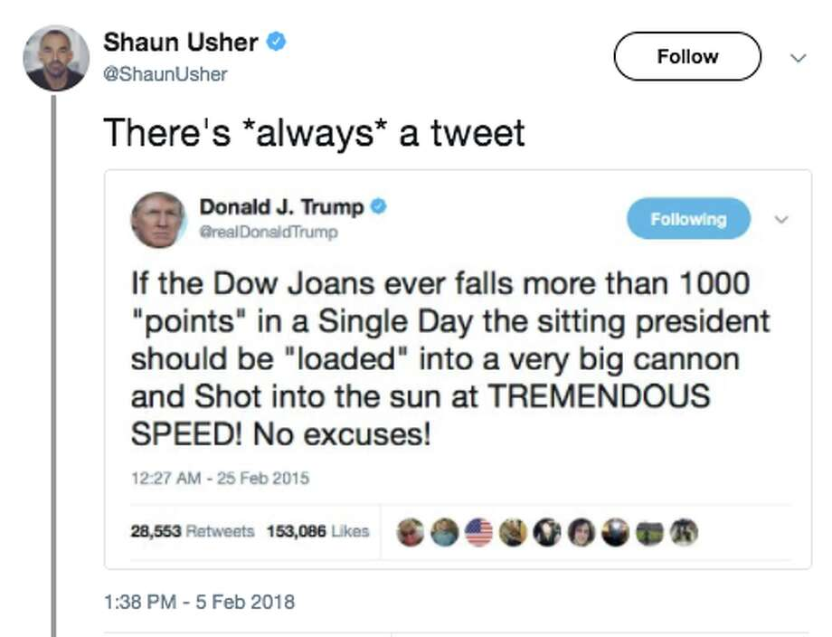 "Shaun Usher, the owner of the blog ""Letters of Note"" posted an image of a fake tweet on Feb. 5 as a joke poking fun at the president. Photo: Twitter Screen Grab / @ShaunUsher"