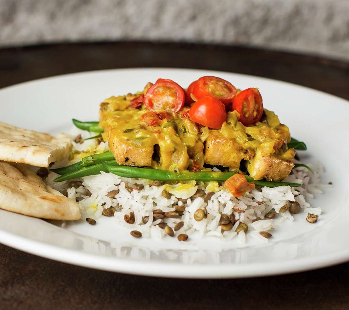 Hungry's restaurants (Rice Village, Memorial) have launched new daily vegan menu items. Shown: Tuscan tofu.