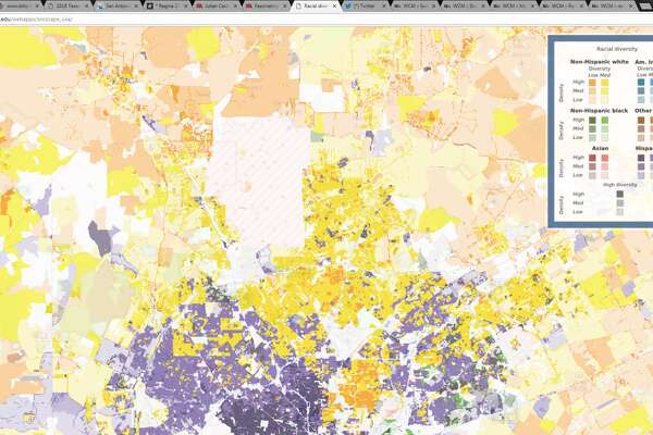 Maps show racial diversity of San Antonio-area neighborhoods ... San Antonio Map on south tx map, district of columbia map, united states map, honolulu map, usa map, salt lake city map, bexar county map, virginia city map, texas map, poteet tx map, galveston map, converse map, nacogdoches map, ozona tx map, indianapolis map, brazos river map, monterrey map, santa fe map, los angeles map, lackland air force base map,