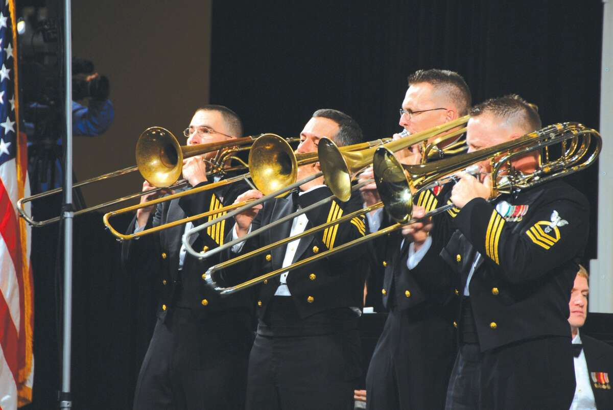 The U.S. Navy Band's trombone section.