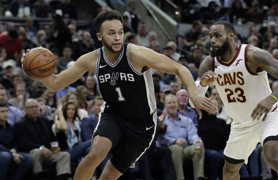 San Antonio Spurs forward Kyle Anderson (1) drives around Cleveland Cavaliers forward LeBron James (23) during the second half of an NBA basketball game, Tuesday, Jan. 23, 2018, in San Antonio. San Antonio won 114-102. Photo: Eric Gay /Associated Press / Copyright 2018 The Associated Press. All rights reserved.