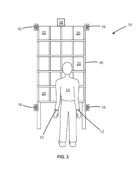 """Amazon's patent, designed the senior technical program manager for Amazon Go, the cashierless grocery store in South Lake Union. The wristbands avoids the need for """"computationally intensive and expensive"""" monitoring by means of computer vision. Photo: USPTO"""