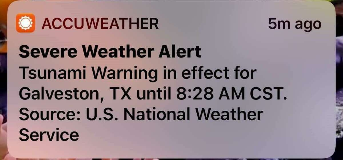 The National Tsunami Warning Center accidentally sent out a tsunami warning for the Gulf coast. The warning was meant to be a test and not sent out to people. Scroll ahead to see some of the extreme weather that hit Houston in the last year.