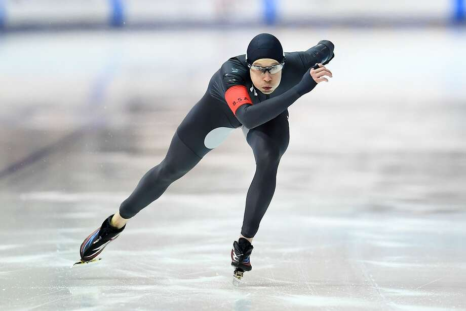 MILWAUKEE, WI - JANUARY 05:  Jonathan Garcia competes in the Men's 500 meter event during the Long Track Speed Skating Olympic Trials at the Pettit National Ice Center on January 5, 2018 in Milwaukee, Wisconsin.  (Photo by Stacy Revere/Getty Images) Photo: Stacy Revere/Getty Images