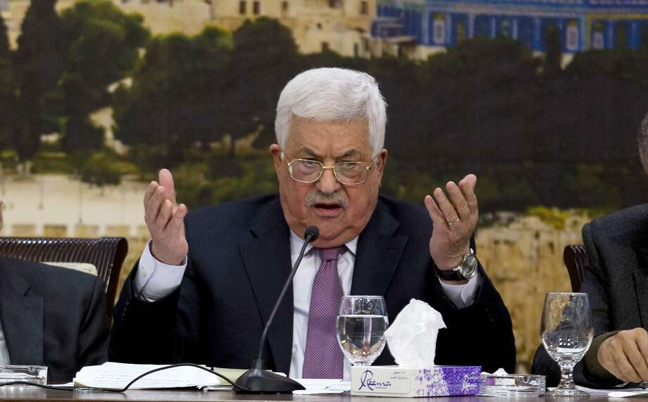 Allegations of continued intelligence-sharing with the United States could pose a domestic political problem for the 82-year-old Palestinian President Mahmoud Abbas. Photo: Majdi Mohammed, Associated Press
