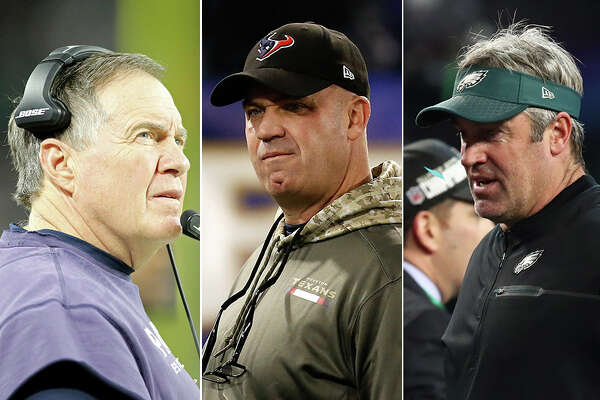 Bill Belichick, Bill O'Brien and Doug Pederson had varying degrees of success with their teams in 2017.