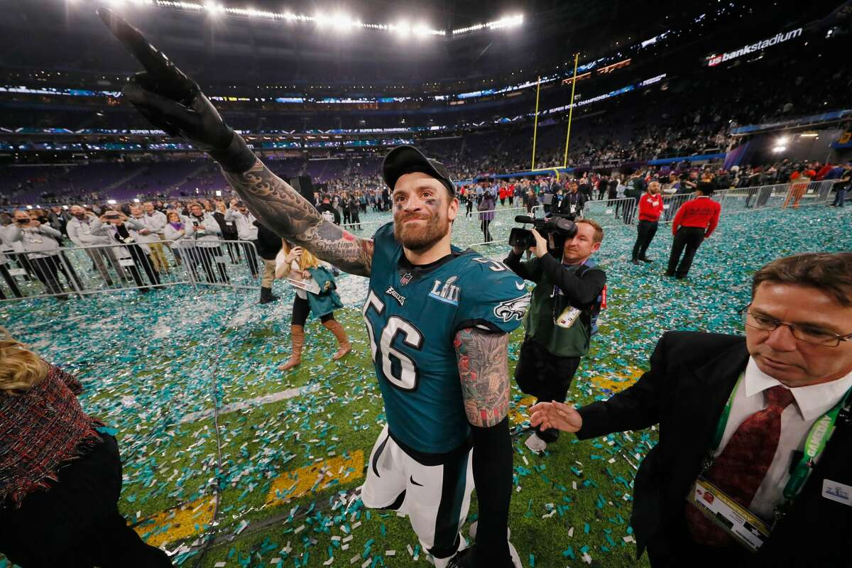"""Chris Long - Philadelphia Eagles/New England Patriots """"Are you kidding me?"""" when asked on the """"Pardon My Take"""" podcast if he would visit the White House. Long elected not to visit the White House when he was a member of the Super Bowl-winning New England Patriots as well."""