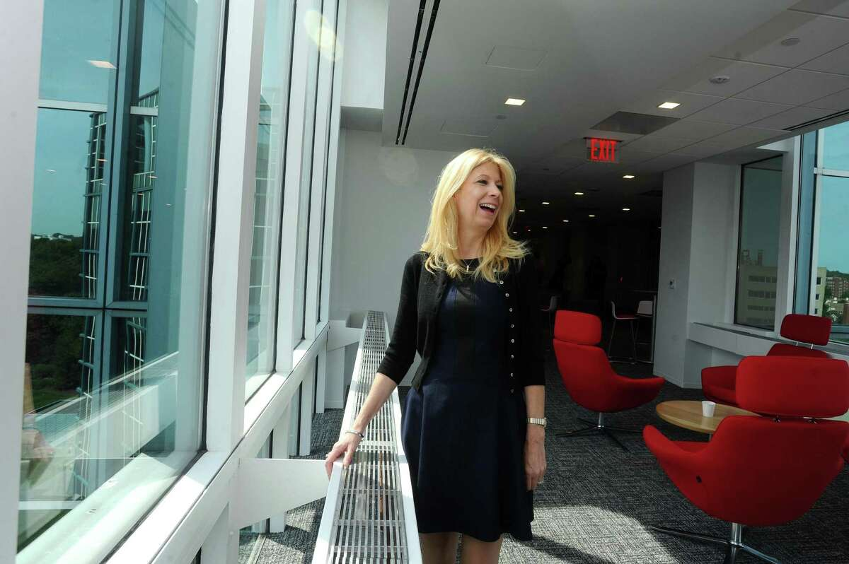 Gretchen Crist, senior vice president of human resources at Henkel North America, in September 2017 at the company's new offices in downtown Stamford created with assistance from the state of Connecticut.