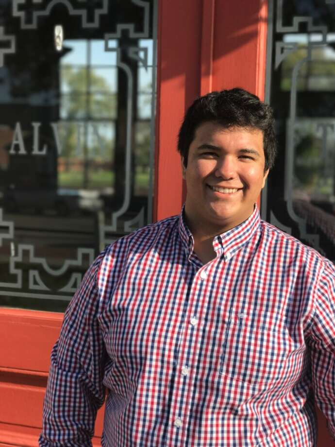 """Joel Castro, 18, is a candidate in a runoff election for an Alvin City Council position. He says he went door-to-door campaigning for the initial Feb. 3 special election.  """"I am ready to go at it 10 times harder,"""" he says."""