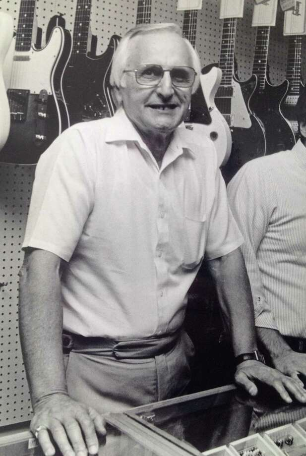 Joe Roberts Sr. in Connecticut Music on Newfield Avenue in 1987. Roberts died Oct. 5, 2013. Photo: Contributed Photo / Stamford Advocate  contributed