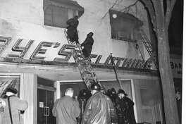 Kaye's Clothing fire. March 1963
