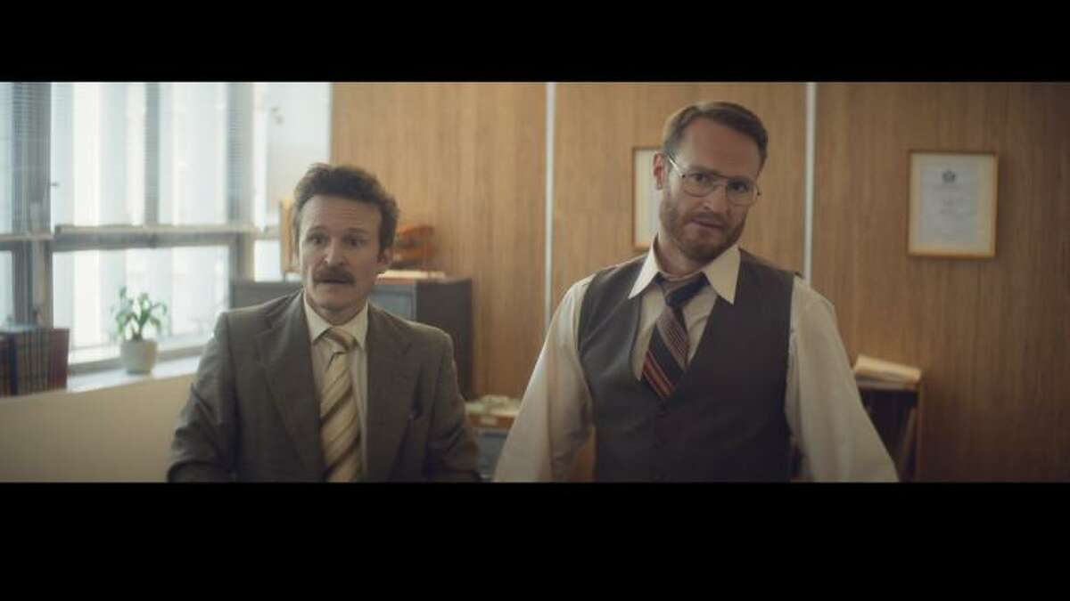 Two men nervously await their appointment with a psychologist in the live action short Oscar nominee