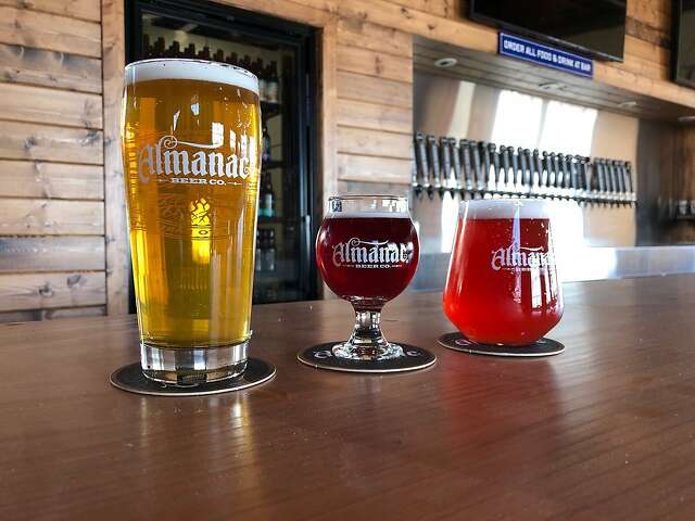 A lineup of brews from Almanac Beer Co. The Alameda brewery took home an award for its Apricot Sournova.