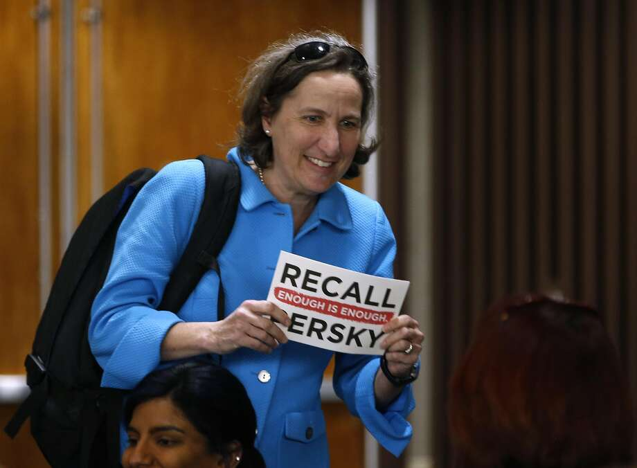 Stanford law professor Michele Dauber arrives for a meeting of the Santa Clara County Board of Supervisors, who were expected to approve a ballot measure to recall Judge Aaron Persky in San Jose, Calif. on Tuesday, Feb. 6, 2018. Dauber led the recall effort against Persky, who was criticized after handing down a six-month sentence to former Stanford athlete Brock Turner for a sexual assault conviction. Photo: Paul Chinn, The Chronicle