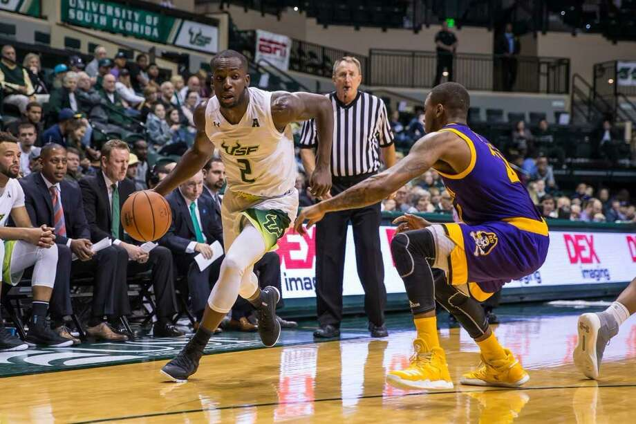 Terrence Samuel, who helped UConn win a national title in 2014, returns to Gampel Pavilion as a grad transfer with USF on Wednesday night. Photo: Courtesy Of USF Athletics
