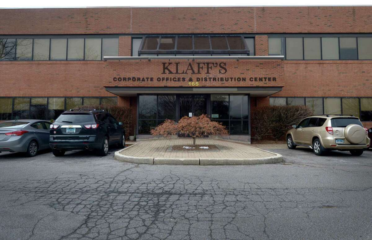 Klaffs administrative offices at 165 Water St. on Tuesday in Norwalk. The building has been put up for sale.