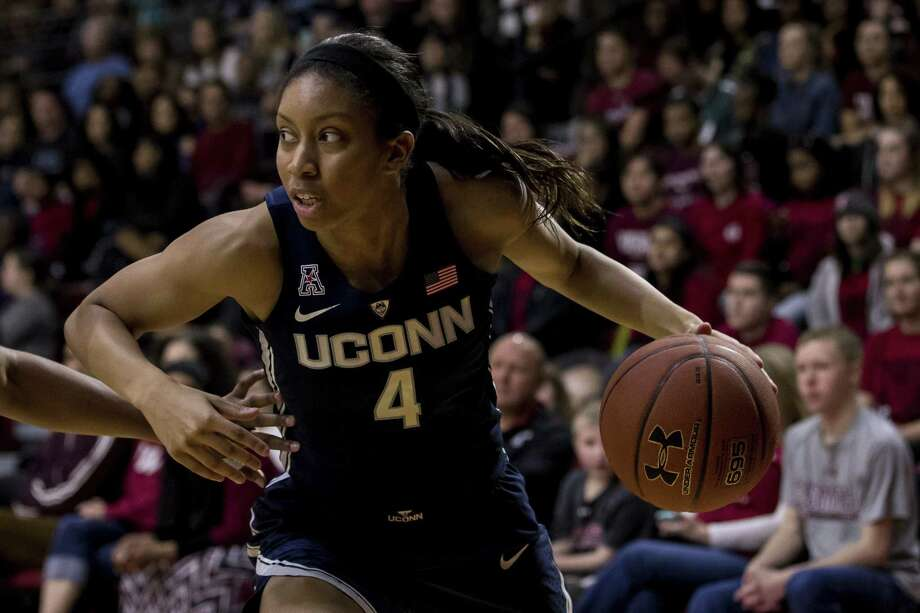 UConn freshman Mikayla Coombs could see increased minutes against UCF if senior Cyrstal Dangerfield continues in a limited role to rest her injuries. Photo: Chris Szagola / Associated Press / FR170982 AP