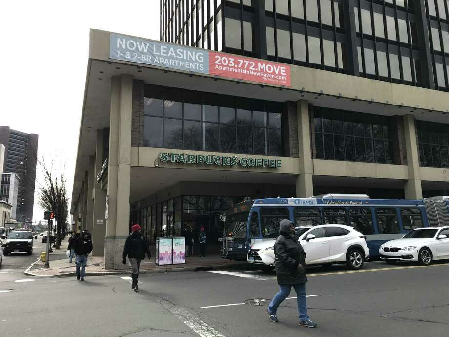 Outside a Starbucks at 896 Chapel St. on Tuesday, Feb. 6, in downtown New Haven. Starbucks has submitted plans for a new store down the block on Church Street. Photo: Esteban L. Hernandez / Hearst Connecticut Media