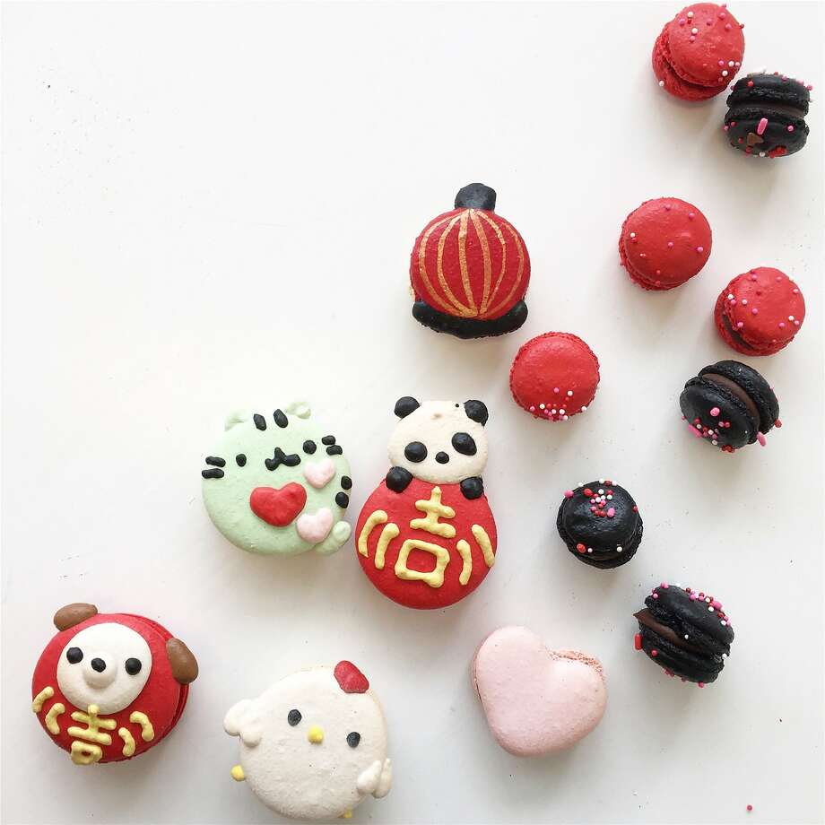 Ketsourine Macarons in Daly City have created Lunar New Year macarons that are vailable for preorder or in the store (500 Westlake Center) through February for $2.75 to $3 each; https://ketsourinemacarons.com. Photo: Courtesy�Ketsourine Macarons