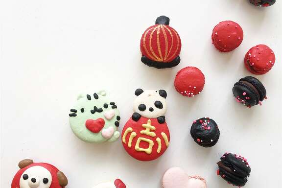 Ketsourine Macarons in Daly City have created Lunar New Year macarons.