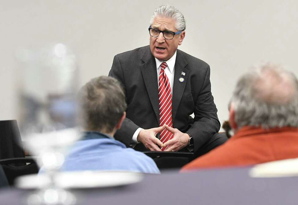 Senator Jim Tedisco participates during a