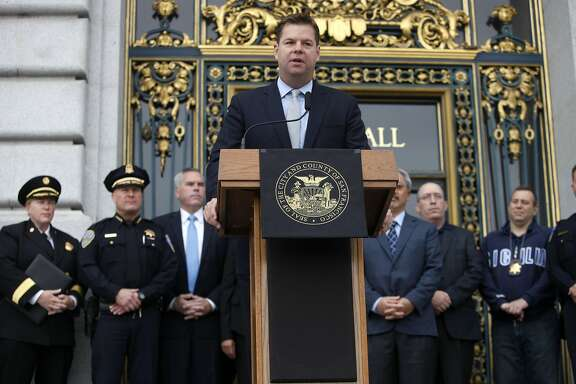 Mark Farrell, County Supervisor, announces the perimeters for a taxpayer-funded loan assistance program aimed at keeping first responders in San Francisco at City Hall in San Francisco, Calif. on July 30, 2013.