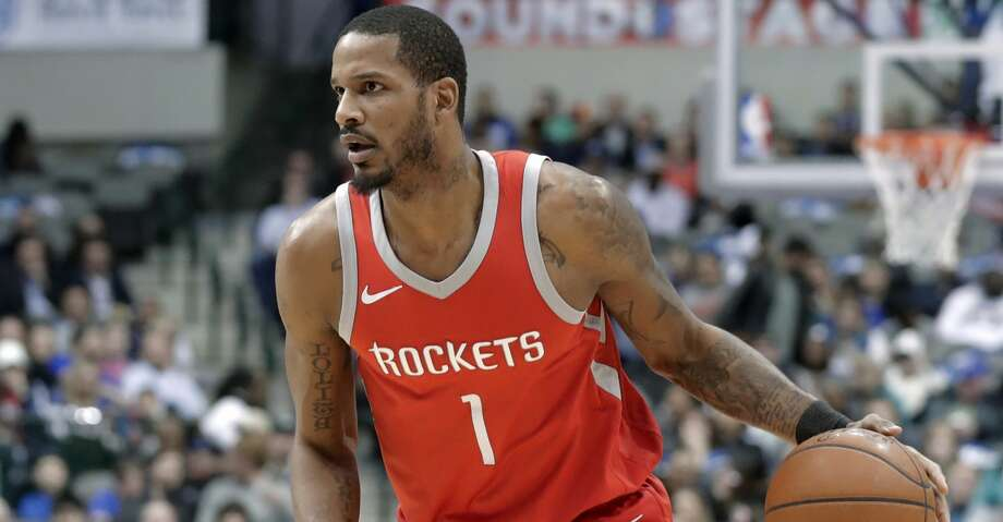 Houston Rockets forward Trevor Ariza (1) handles the ball during the first half of an NBA basketball game against the Dallas Mavericks on Wednesday, Jan. 24, 2018, in Dallas. (AP Photo/Tony Gutierrez) Photo: Tony Gutierrez/Associated Press