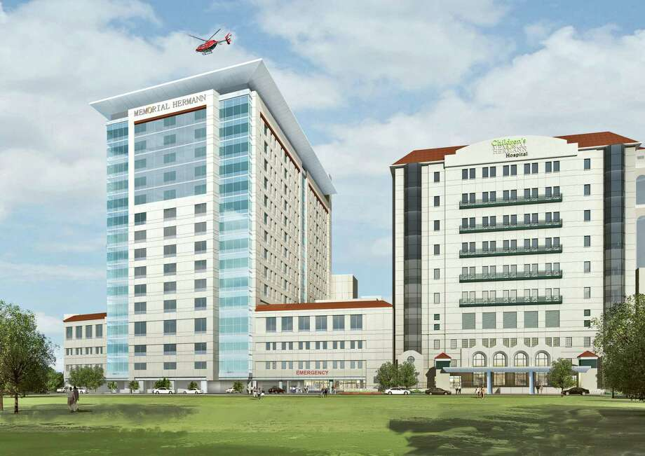 With a $25 million gift from Susan and Fayez Sarofim,Memorial Hermann will name its 17-story patient care tower currently under construction in the Texas Medical Center theSusan and Fayez Sarofim Pavilion. The tower is expected to be completed in 2020. Photo: Rendering Courtesy Of Memorial Hermann