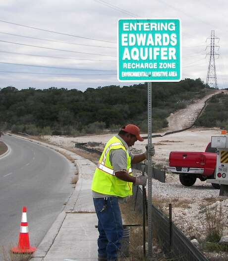 The Edwards Aquifer Authority oversees pumping and water quality from the Edwards Aquifer, the pirmary source of drinking water for the region. The agency is being sued over recent rule changes that stipulate when water rights historically used for agriculture can be transferred to other uses, such as commercial or residential. Photo: File Photo