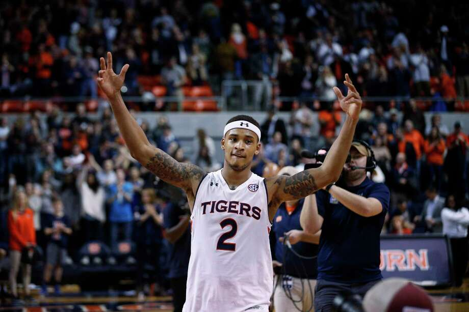 Auburn guard Bryce Brown reacts after beating Vanderbilt 93-81, during the second half of an NCAA college basketball game, Saturday, Feb. 3, 2018, in Auburn, Ala. (AP Photo/Brynn Anderson) Photo: Brynn Anderson, STF / Copyright 2018 The Associated Press. All rights reserved.