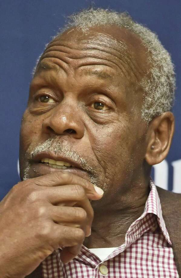 Actor and activist Danny Glover is seen during a news conference Tuesday evening before speaking at Quinnipiac University in Hamden. Photo: Peter Hvizdak / Hearst Connecticut Media / New Haven Register