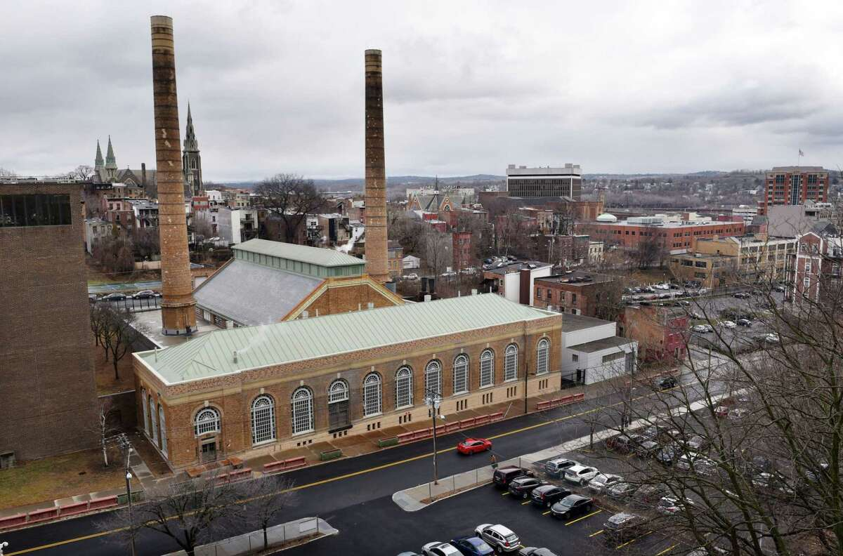Exterior of the Sheridan Avenue Steam Plant on Thursday, Jan. 19, 2017, in Albany, N.Y. The plant provides steam heat for the Empire State Plaza and Capitol complex. (Will Waldron/Times Union)
