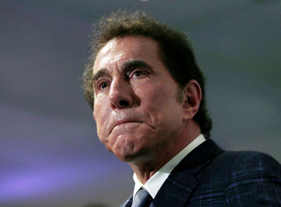 FILE - This March 15, 2016, file photo shows casino mogul Steve Wynn at a news conference in Medford, Mass. Wynn Resorts announced Tuesday, Feb. 6, 2018, that Wynn has resigned as chairman and CEO, effective immediately, amid sexual misconduct allegations. The Wall Street Journal reported Jan. 26 that a number of women said Wynn harassed or assaulted them and that one case led to a $7.5 million settlement. The Las Vegas billionaire has vehemently denied the allegations, which he attributes to a campaign led by his ex-wife. (AP Photo/Charles Krupa, File) Photo: Charles Krupa, STF / Copyright 2018 The Associated Press. All rights reserved.