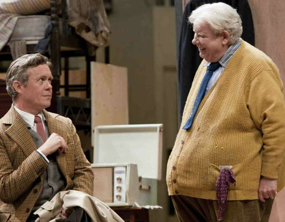 """Alex Jennings, left, and Richard Griffiths are seen performing in Alan Bennett's new play """"The Habit of Art"""" in this undated handout photograph. / National Theatre"""
