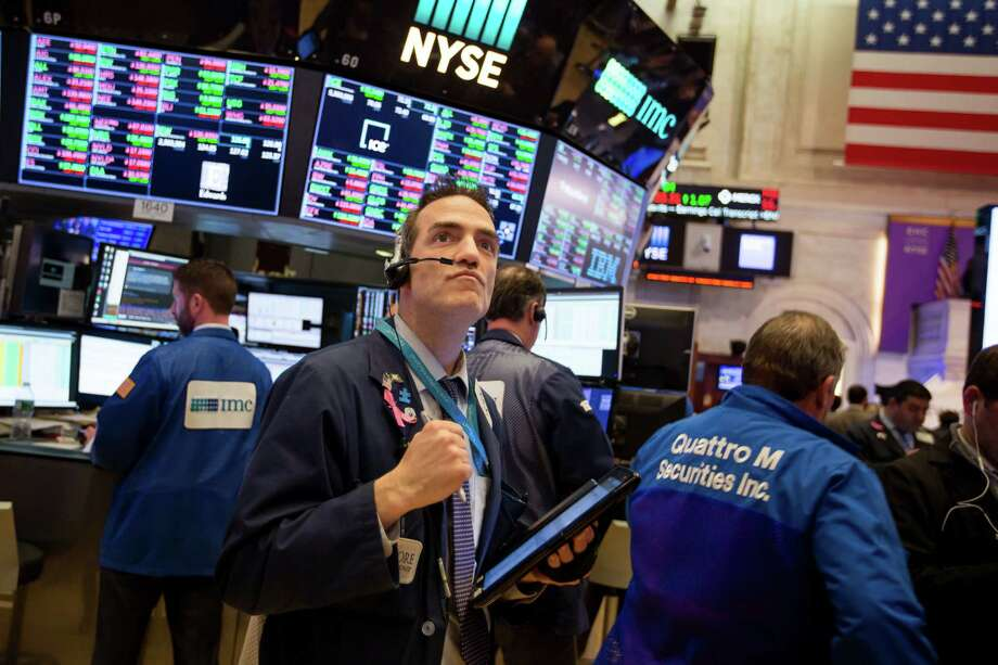 A trader works on the floor of the New York Stock Exchange in New York Feb. 6 2018