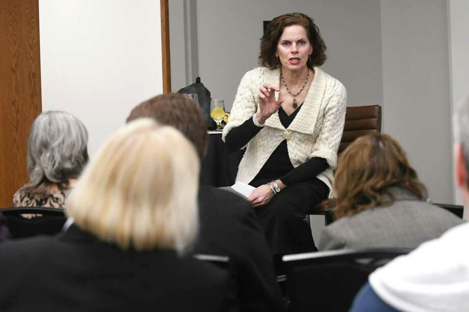 Assemblymember Patricia Fahy participates during a OCapitol Confidential Issues Roundtable: State Lawmakers,O at the Hearst Media Center on Tuesday, Feb. 6, 2018 in Colonie, N.Y. (Lori Van Buren/Times Union) Photo: Lori Van Buren / 20042852A