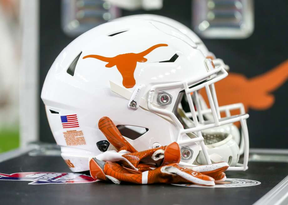 HOUSTON, TX - DECEMBER 27:  University of Texas Longhorns helmet rests on the sidelines during the Texas Bowl game between the Texas Longhorns and Missouri Tigers on December 27, 2017 at NRG Stadium in Houston, Texas.(Photo by Leslie Plaza Johnson/Icon Sportswire via Getty Images) Photo: Icon Sportswire/Icon Sportswire Via Getty Images