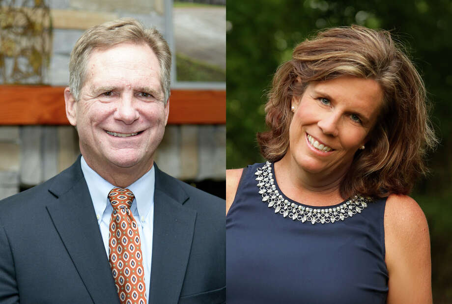 Mark Micheletti and Kaaren Cambio, both Kingwood residents, have been appointed by Gov. Greg Abbott to the San Jacinto River Authority board of directors. Photo: Photos Courtesy Of Lake Houston Area Chamber Of Commerce And Kaaren Cambio