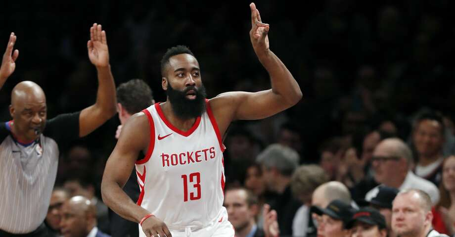 PHOTOS: Rockets game-by-gameJames Harden became the fifth-youngest among active players to reach the 15,000-point milestone at 28 years, 164 days, according to Elias.Browse through the photos to see how the Rockets have fared through each game this season. Photo: Kathy Willens/Associated Press