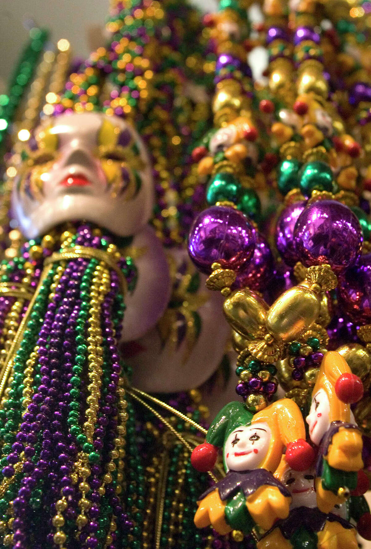 Beads will be plentiful in Galveston during the upcoming weeks of Mardi Gras.