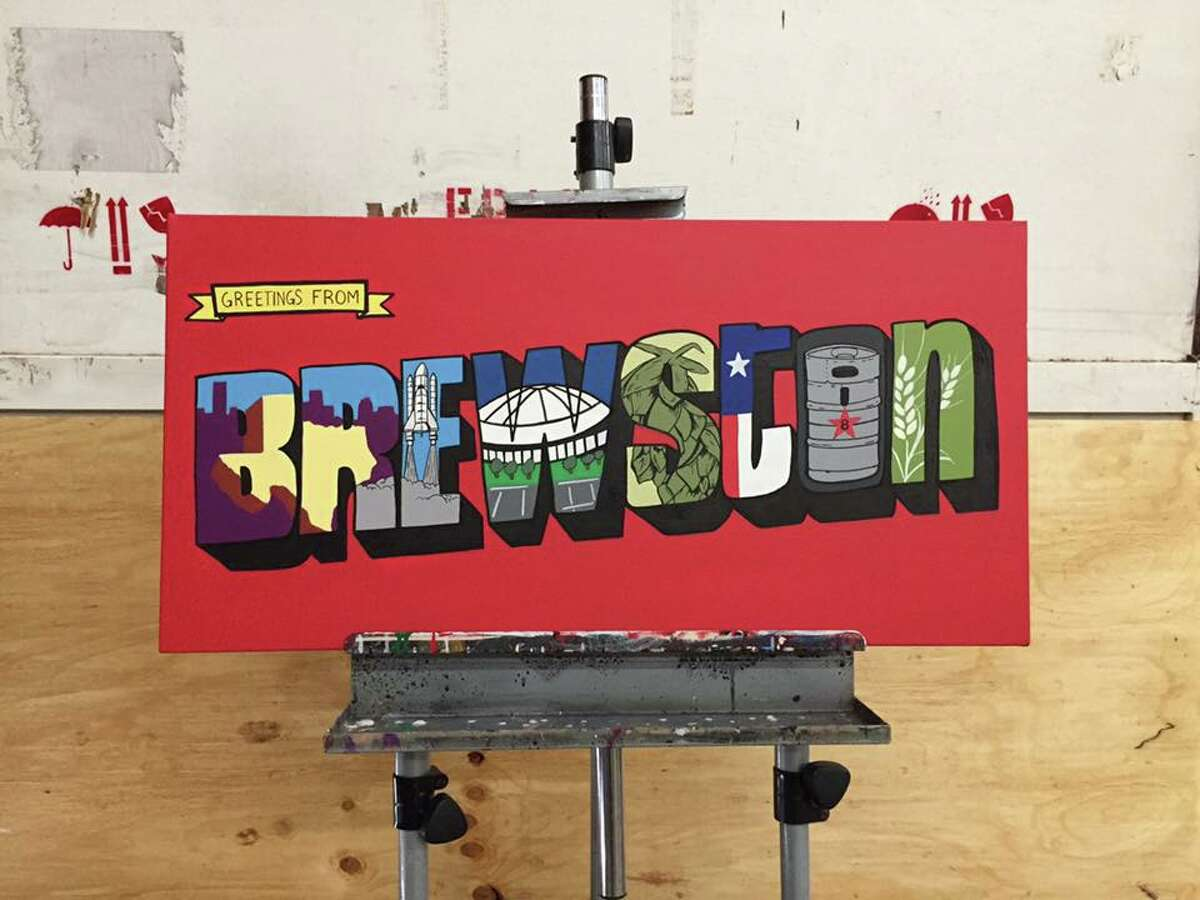 Enjoy a night of Htown art this Friday, at theDonkeeboy & Friends Art Show at 8th Wonder Brewery.