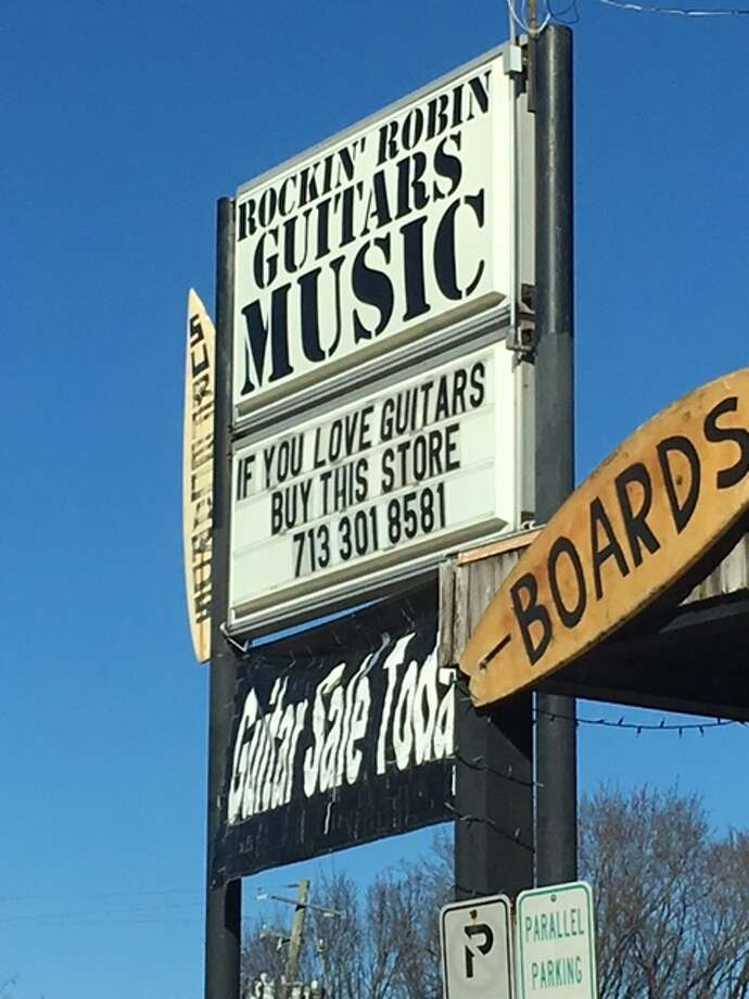 Rockin' Robin's sign suggests the store is looking for a buyer.