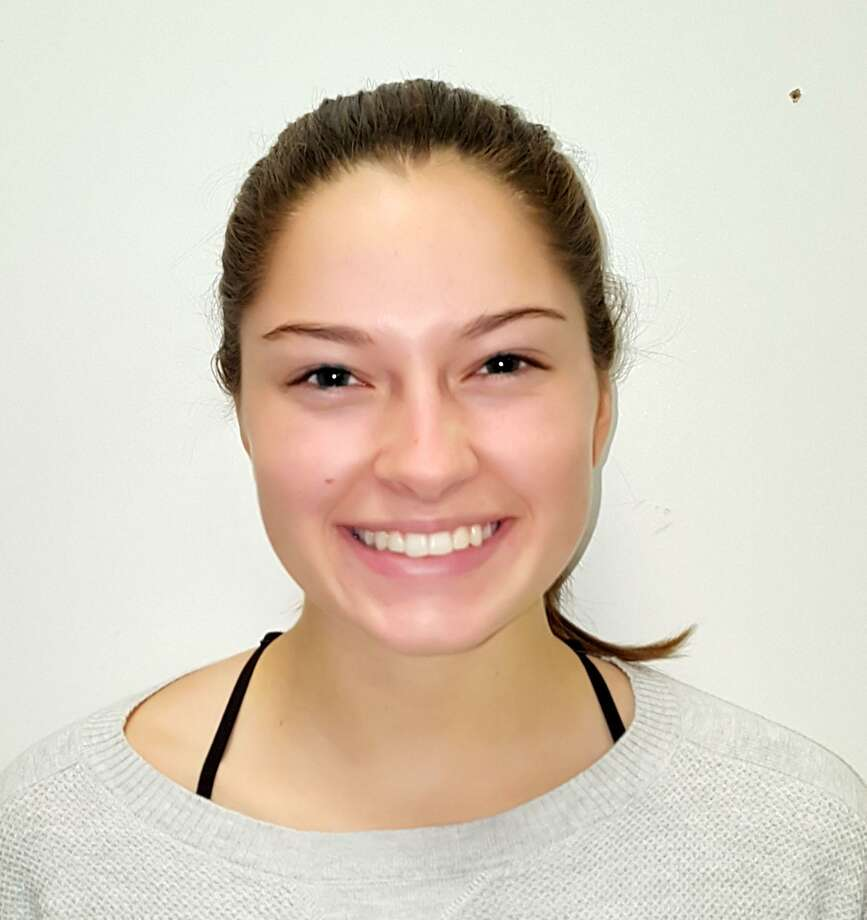 The Rotary Club of New Milford recentrly presented its November 2017 Student of the Month award to Katherine Grinnell, a senior at New Milford High. Katherine is a member of the National Honor Society, captain of the cross country team and won the Russ Devin Leadership Award. She also plays soccer, is on the dance team, and participates in NMHS musicals and Sing Out CT. Katherine will be attending college in 2018 studying exercise physiology and health science, and plans a career in childrens health support and physical therapy. Photo: Courtesy Of Rotary Club Of New Milford / The News-Times Contributed
