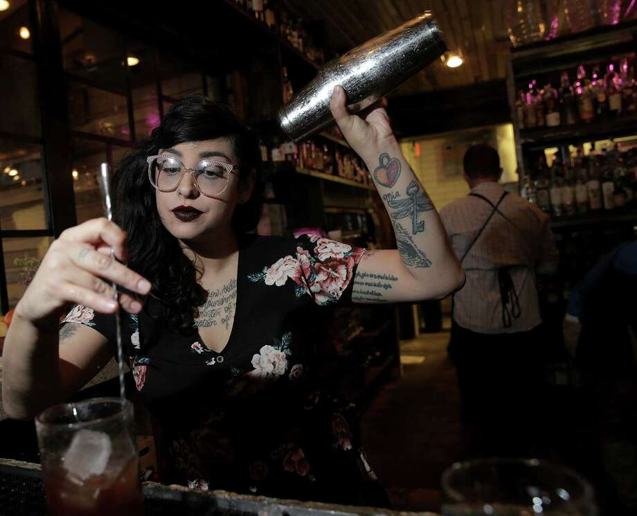Photos of Presidio bartender Marla Martinez for Bar Star profile in Preview, photographed on Friday, Feb. 2, 2018, in Houston. ( Elizabeth Conley / Houston Chronicle ) Photo: Elizabeth Conley, Chronicle / © 2018 Houston Chronicle